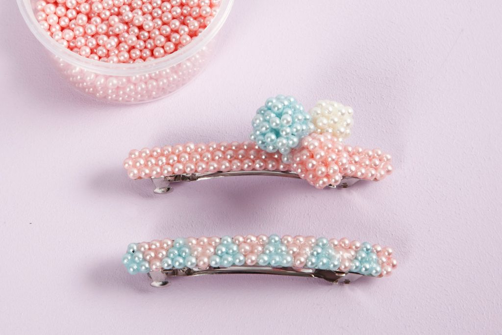 creatief met pearl caly haarspeld zelf decoreren met kleine parels