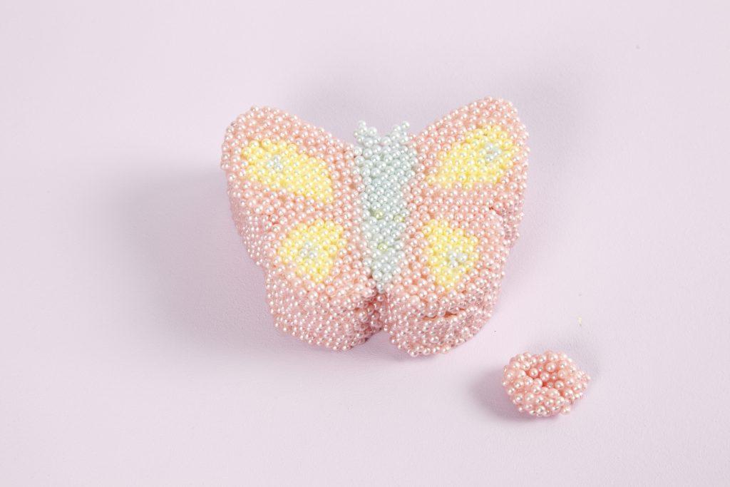 creatief met pearl clay decoreer vlinderdoos voor sieraden