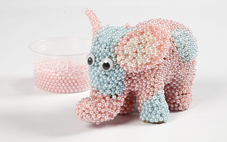 creatief met pearl clay olifant decoreren