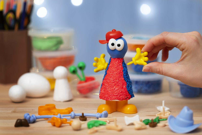 creatieve ideeën voor kinderen, boetseren met toebehoor lichaamsdelen