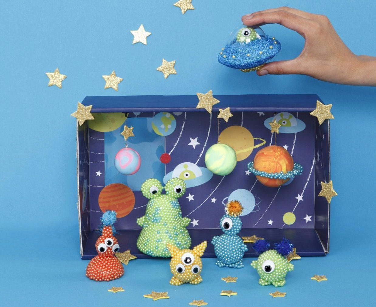 creatieve ideeën voor kinderen, ruimtewezen, inspiratie voor boetseren