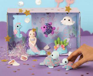 Kreatieve ideeën voor kinderen, zeemeermin om te boetseren