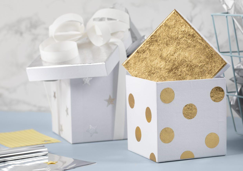 wees creatief met deco-folie, decoreer een doos