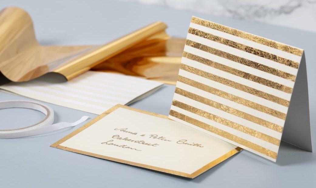 Creatief met folie, deco-folie in goud voor zelf kaarten maken