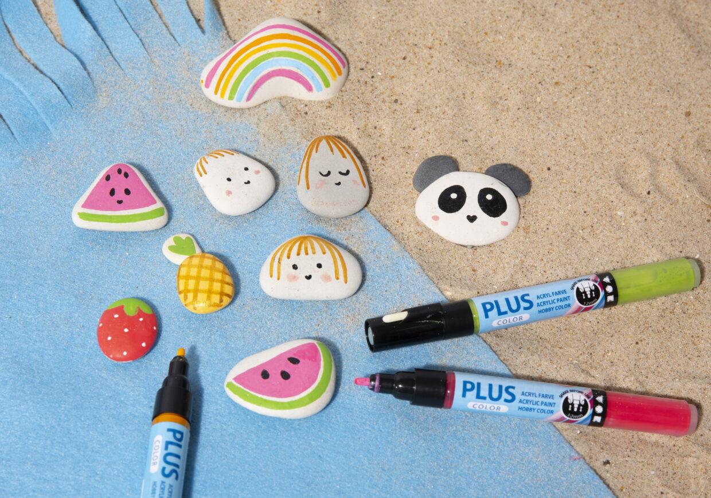 Inspiratie om op steen te schilderen met o.a. Plus Color markers en Posca markers