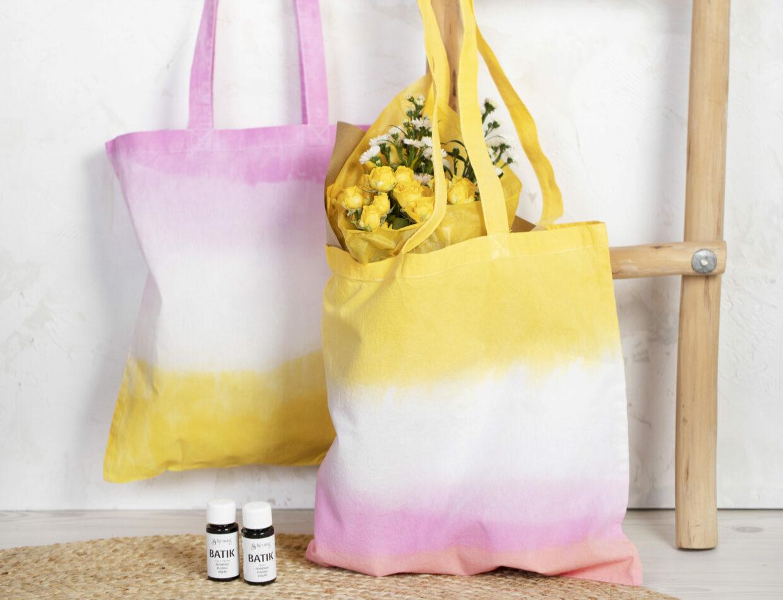 Wees creatief met batik (tie-dye), dip-dye techniek en textieldecoratie
